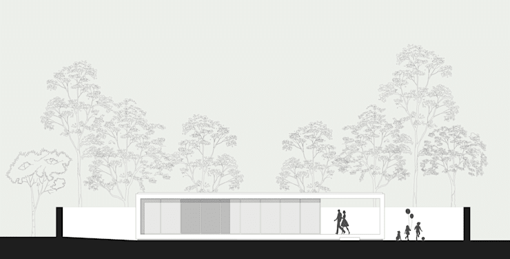 main façade:   por ARCO mais - arquitectura e construção