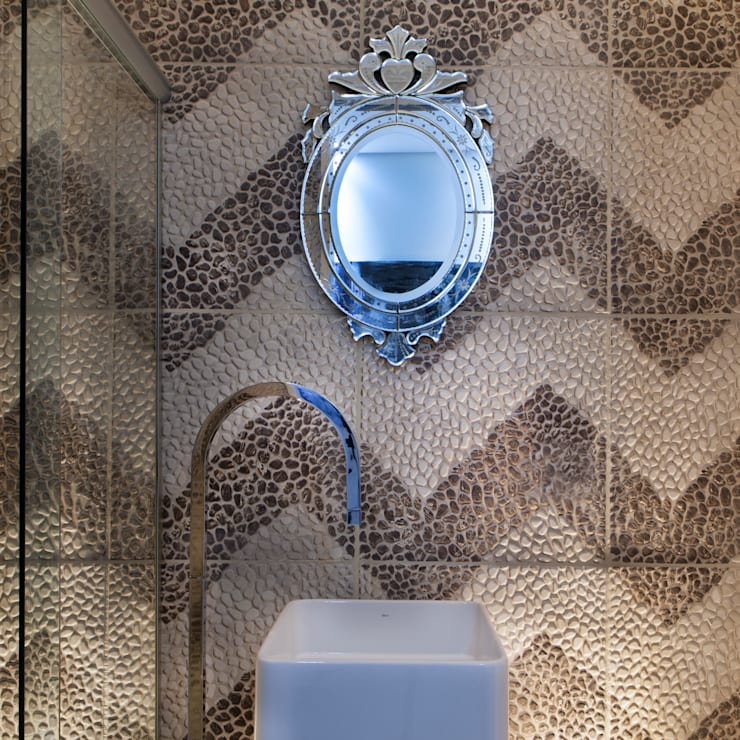Baños de estilo moderno por AD ARQUITETURA E DESIGN
