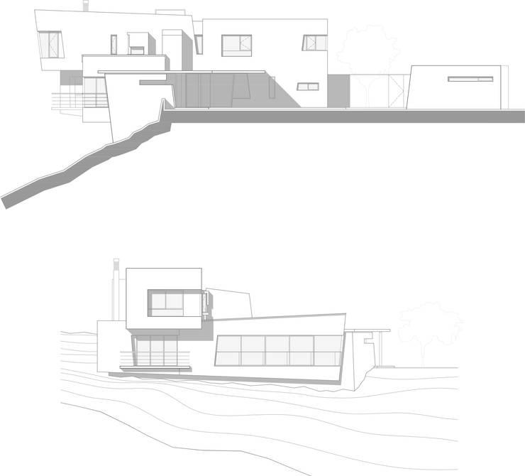 Fachadas: Casas de estilo moderno por Poggi Schmit Arquitectura