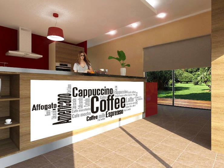 Projecto de Remodelação na Marisol: Cozinhas  por Projectos Arquitectura & 3D