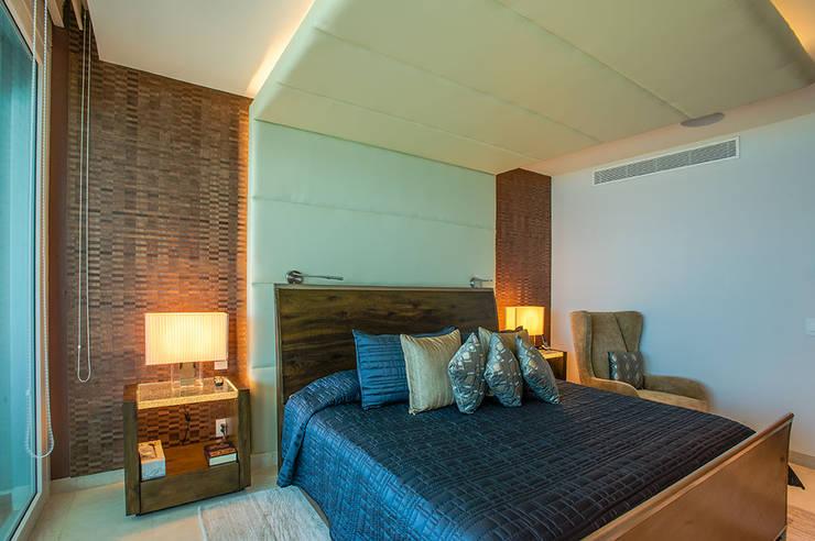 غرفة نوم تنفيذ Art.chitecture, Taller de Arquitectura e Interiorismo 📍 Cancún, México.