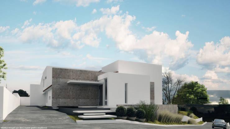 Acceso principal:  de estilo  por Diez y Nueve Grados Arquitectos