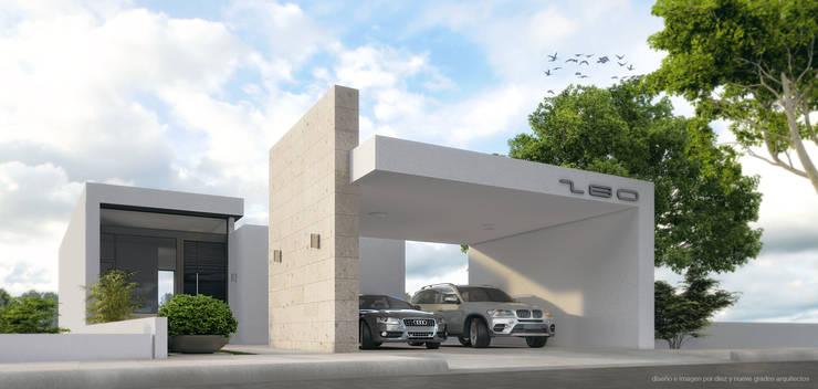 Perspectiva principal:  de estilo  por Diez y Nueve Grados Arquitectos