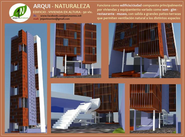 EDIFICIO - CIUDAD:  de estilo  por ARQUI - NATURALEZA