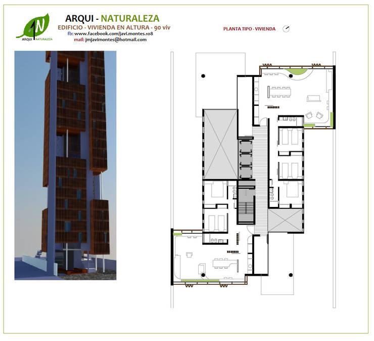 PLANTA TIPO:  de estilo  por ARQUI - NATURALEZA