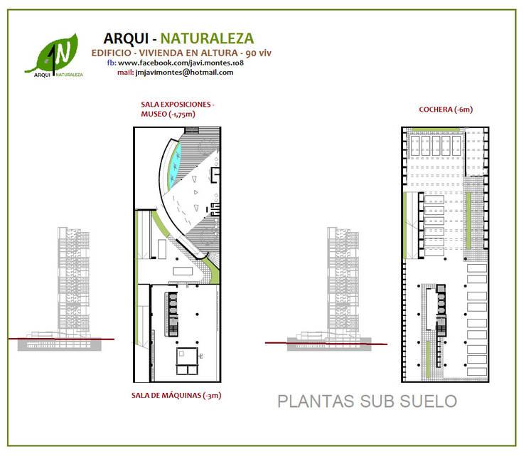 PLANTA SUB SUELO:  de estilo  por ARQUI - NATURALEZA