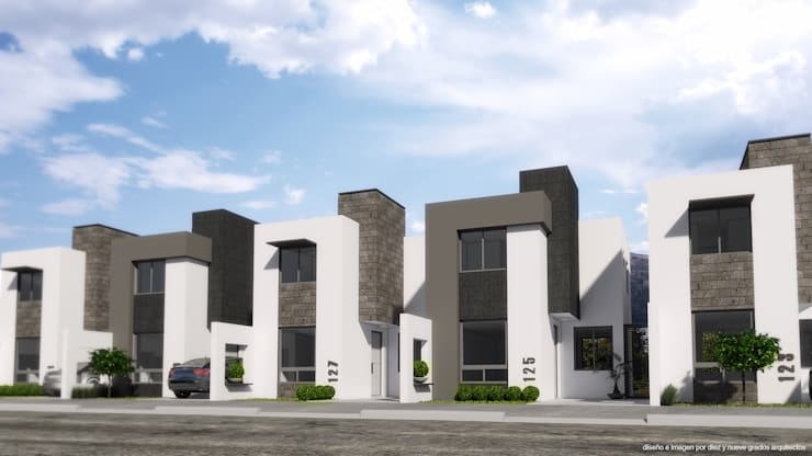 Perspectiva de Fachadas de Diez y Nueve Grados Arquitectos