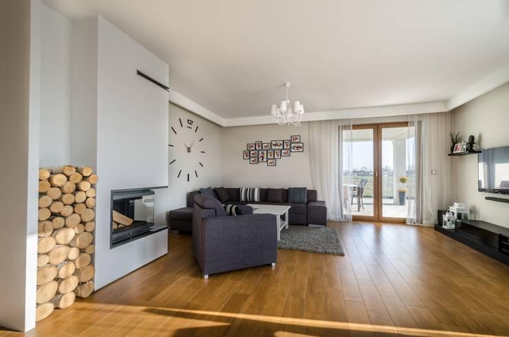 Salon de style de style Moderne par Biuro Projektów MTM Styl - domywstylu.pl