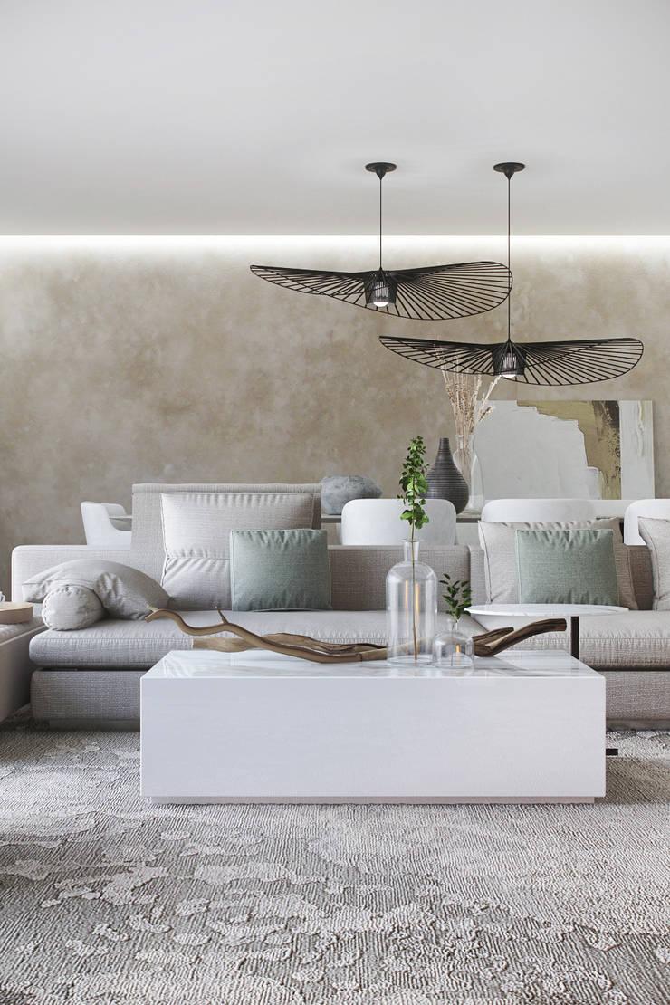 SALA DE ESTAR: Salas de estar  por DZINE & CO, Arquitectura e Design de Interiores