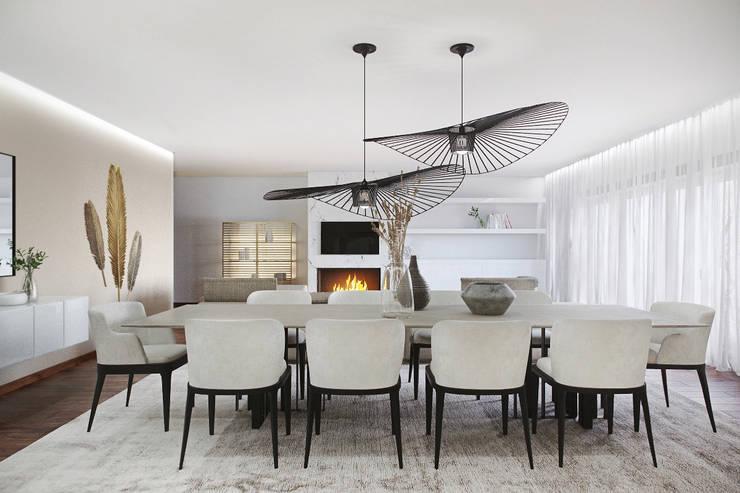 Eetkamer door DZINE & CO, Arquitectura e Design de Interiores