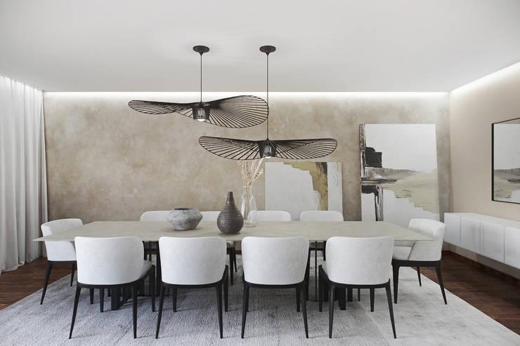 SALA DE JANTAR: Salas de jantar  por DZINE & CO, Arquitectura e Design de Interiores