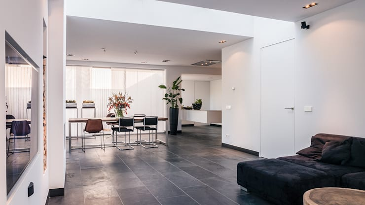 Salon de style  par Joep van Os Architectenbureau,