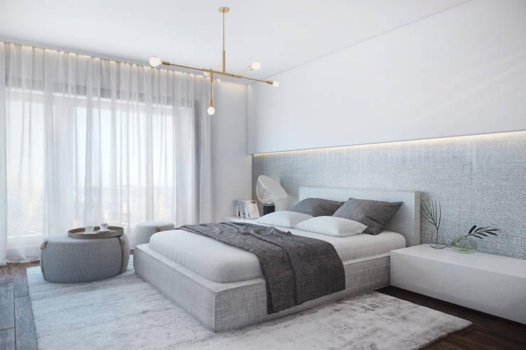 Cuartos de estilo  por DZINE & CO, Arquitectura e Design de Interiores
