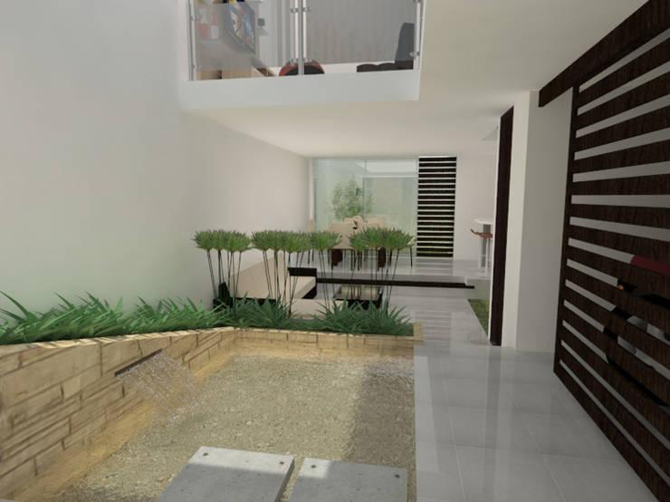 CASA UNIFAMILIAR HURTADO - Pto. Tejada, Cauca 2014: Casas de estilo  por MODOS Arquitectura