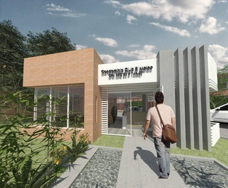 PORTERIA - CONDOMINIO CLUB EL MELAO, CALI: Casas de estilo  por MODOS Arquitectura