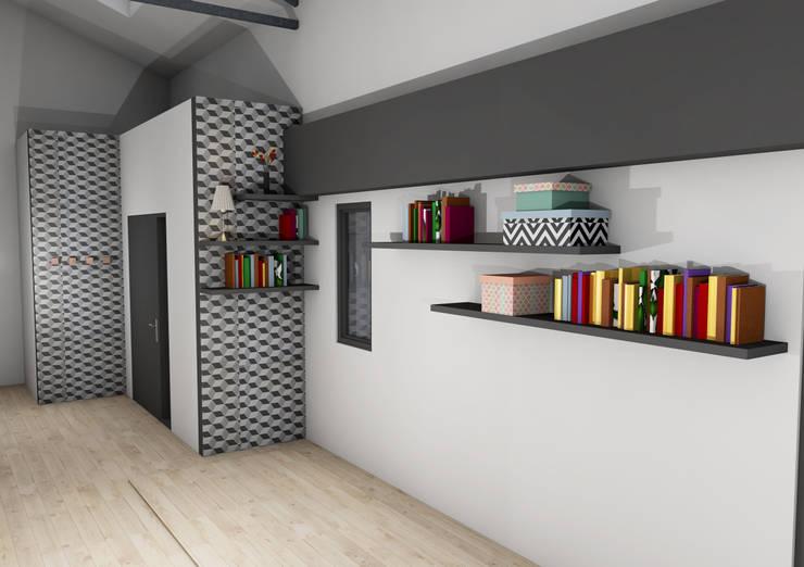 Hall d'entrée: Couloir et hall d'entrée de style  par Laura Djabourian Architecture d'intérieur