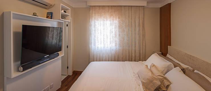 Apartamento Mnl: Quartos  por canatelli arquitetura e design