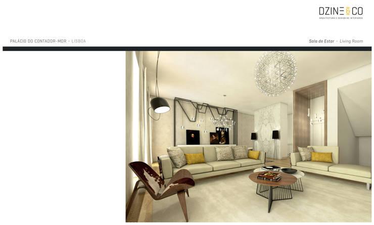 Palácio do Contador Mor : Salas de estar  por DZINE & CO, Arquitectura e Design de Interiores
