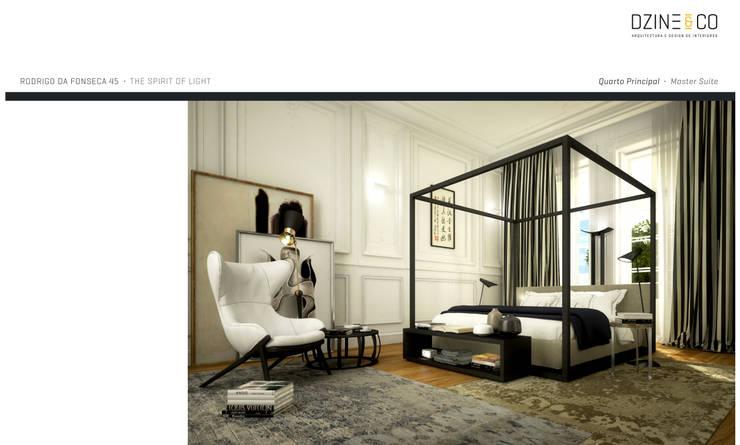 The Spirit of Light: Quartos  por DZINE & CO, Arquitectura e Design de Interiores