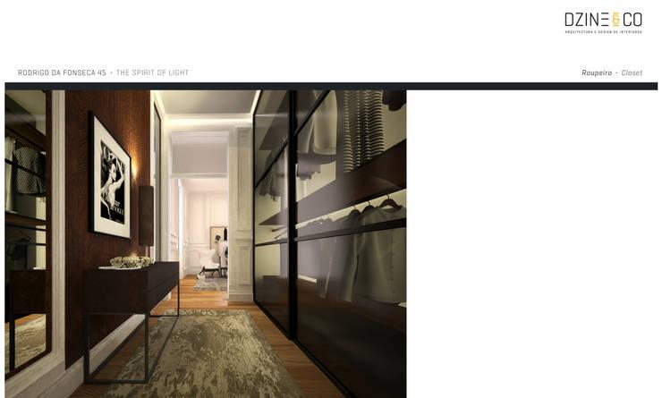 The Spirit of Light: Closets  por DZINE & CO, Arquitectura e Design de Interiores
