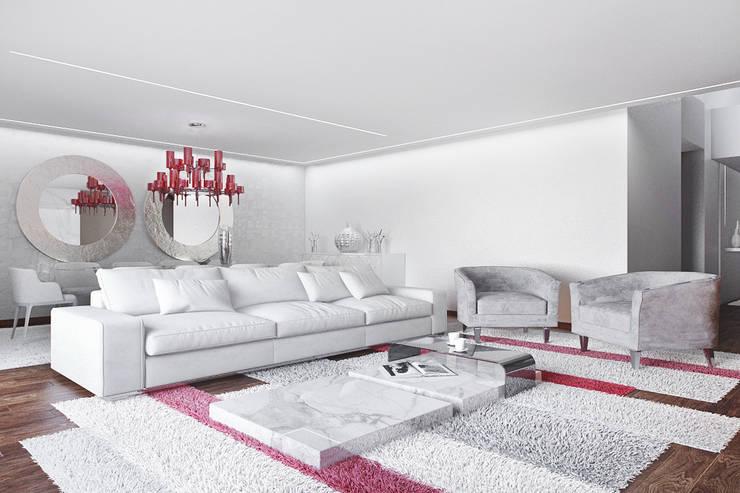 Moradia na Quinta da Marinha, Cascais : Salas de estar  por DZINE & CO, Arquitectura e Design de Interiores
