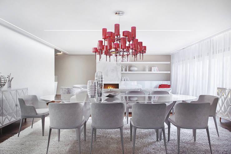 Moradia na Quinta da Marinha, Cascais : Salas de jantar  por DZINE & CO, Arquitectura e Design de Interiores