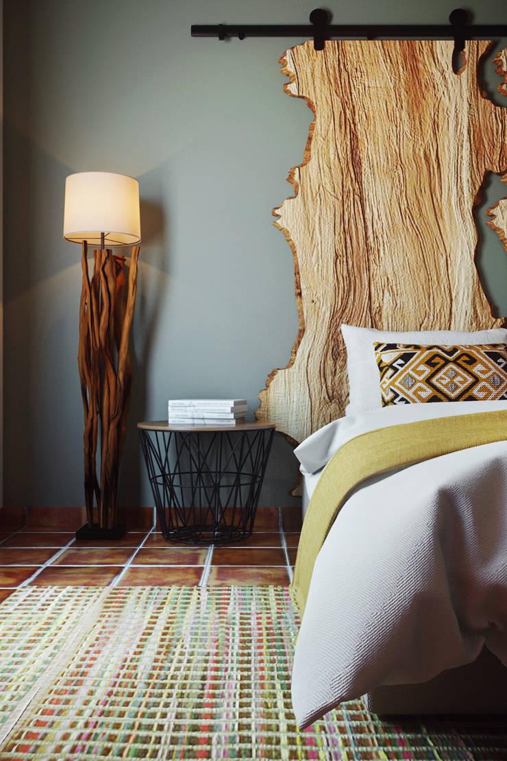 Small Hotel - Costa Algarvia: Hotéis  por DZINE & CO, Arquitectura e Design de Interiores