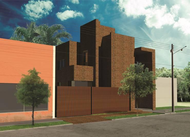 Maisons de style  par Estudio AM Arquitectura,
