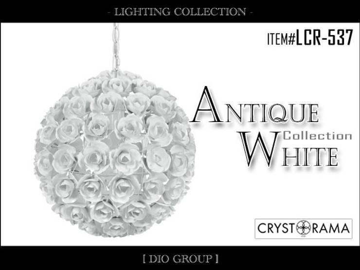 アンティークホワイト1灯ペンダントライト: 株式会社ディオが手掛けた寝室です。
