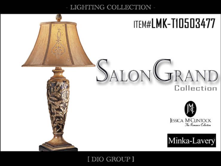 サロングランド1灯テーブルランプ: 株式会社ディオが手掛けたコロニアルです。,コロニアル