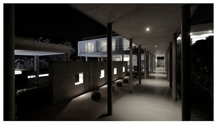 ENTRANCE ALLEY:  Houses by DDIR architecture studio,Minimalist