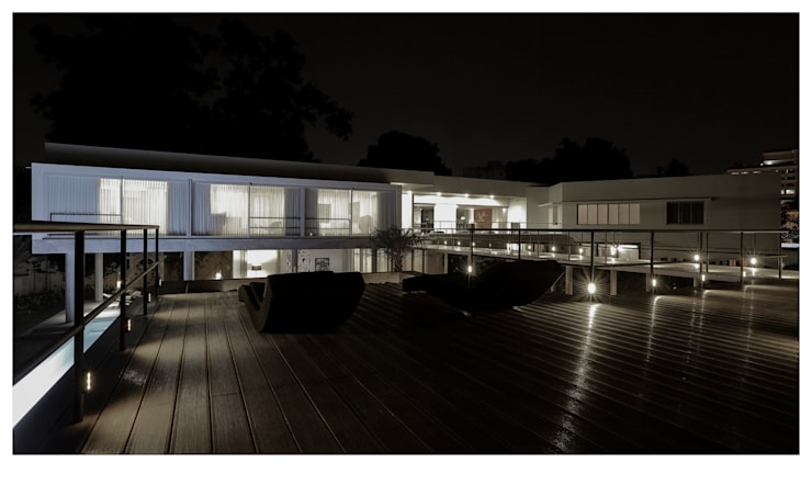 FROM HIGHER DECK:  Houses by DDIR architecture studio,Minimalist Wood Wood effect