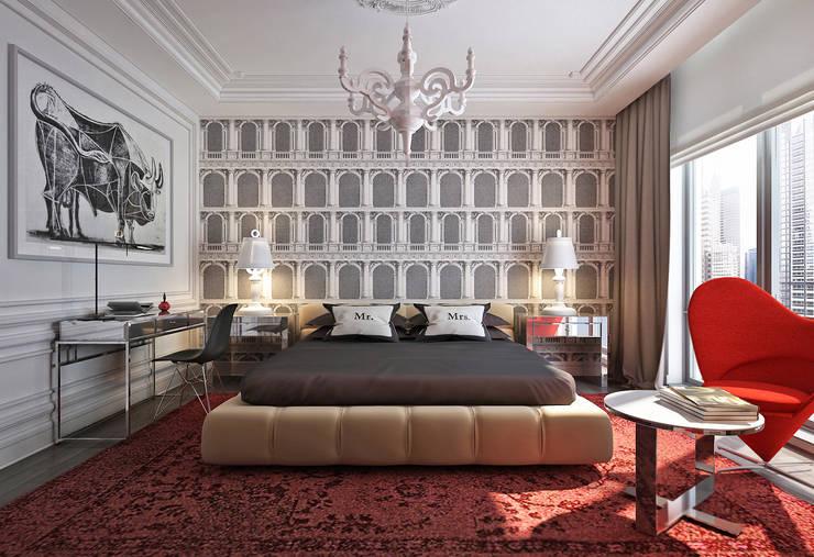 Master bedroom III: Спальни в . Автор – KAPRANDESIGN