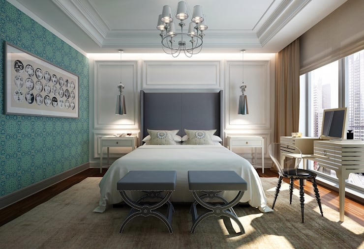 Master bedroom IV: Спальни в . Автор – KAPRANDESIGN