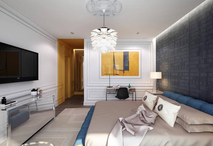 Master bedroom I: Спальни в . Автор – KAPRANDESIGN