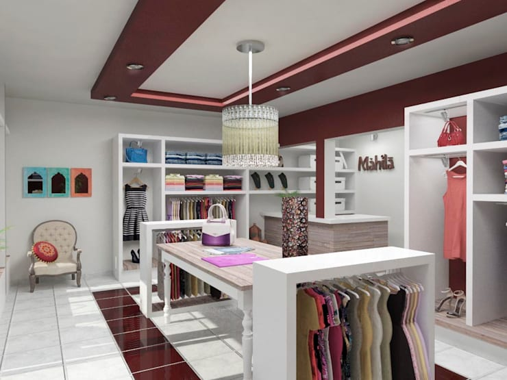 Mahila - Tienda de Ropa Oficinas y comercios de estilo ecléctico de VI Arquitectura & Dis. Interior Ecléctico
