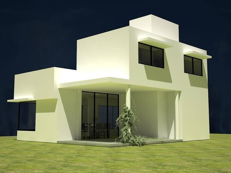 Vivienda evolutiva para crédito hipotecario: Casas de estilo  por Estudio Marcos Fernandez