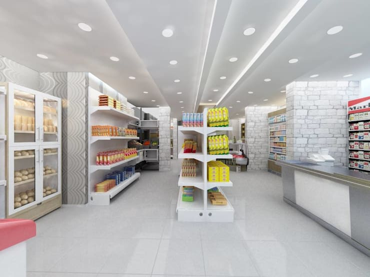 Altuncu İç Mimari Dekorasyon – Beylikdüzü ''Vadi park şarküteri'':  tarz Dükkânlar, Modern