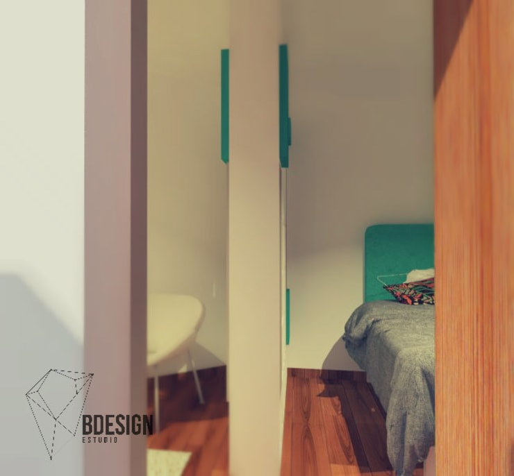 Dormitorio Bebé y Juevenil: Dormitorios infantiles de estilo  por Estudio BDesign,