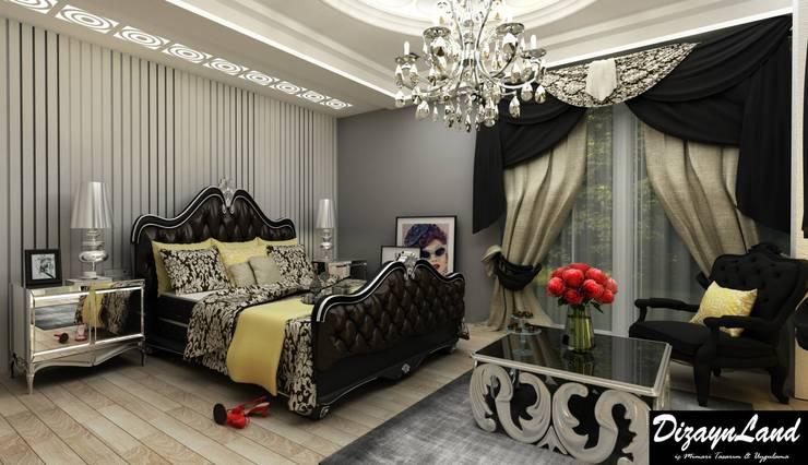 Altuncu İç Mimari Dekorasyon – Beylikdüzü ''Yatak Odası&Giyinme Odası tasarımı'':  tarz Yatak Odası