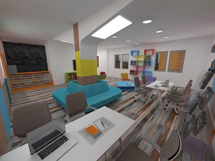 Bürotime – DENİZLİ GENÇLİK MERKEZİ Z KÜTÜPHANE :  tarz Çalışma Odası