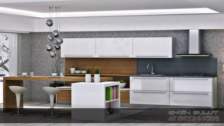 EN+SA MİMARİ TASARIM DEKORASYON MOB.İNŞ.SAN. VE TİC .LTD. ŞTİ – art mutfak: minimalist tarz , Minimalist Ahşap Ahşap rengi