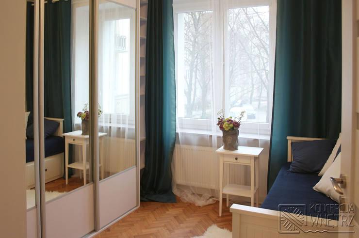 Mieszkanie na Starej Ochocie - sypialnia: styl , w kategorii Sypialnia zaprojektowany przez Koncepcja Wnętrz