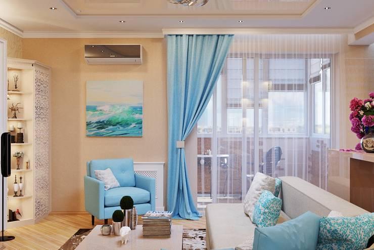 Легкий современный стиль гостиной с камином: Гостиная в . Автор – Студия дизайна Interior Design IDEAS