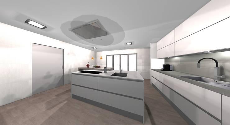ILHA: Cozinha  por Area design interiores - cozinhas em Braga