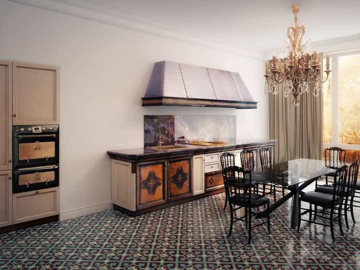 Квартира в Москве 152 кв. м.: Кухни в . Автор – MM-STUDIO