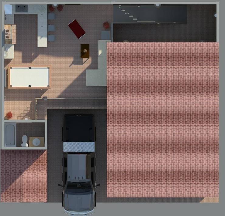 Área de recreacion: Casas de estilo  por Diseño Store