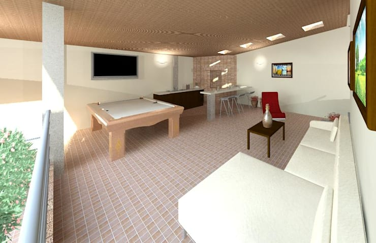 Diseño de área recreacional: Salas / recibidores de estilo  por Diseño Store