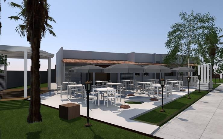 Projeto requalificação de bar clube de tenis coqueiros Luanda :   por Gabinete de arquitetura 3D