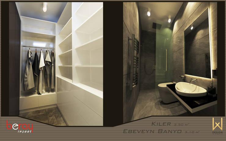 Коридор, прихожая и лестница в модерн стиле от W DESIGN İÇ MİMARLIK Модерн Керамика